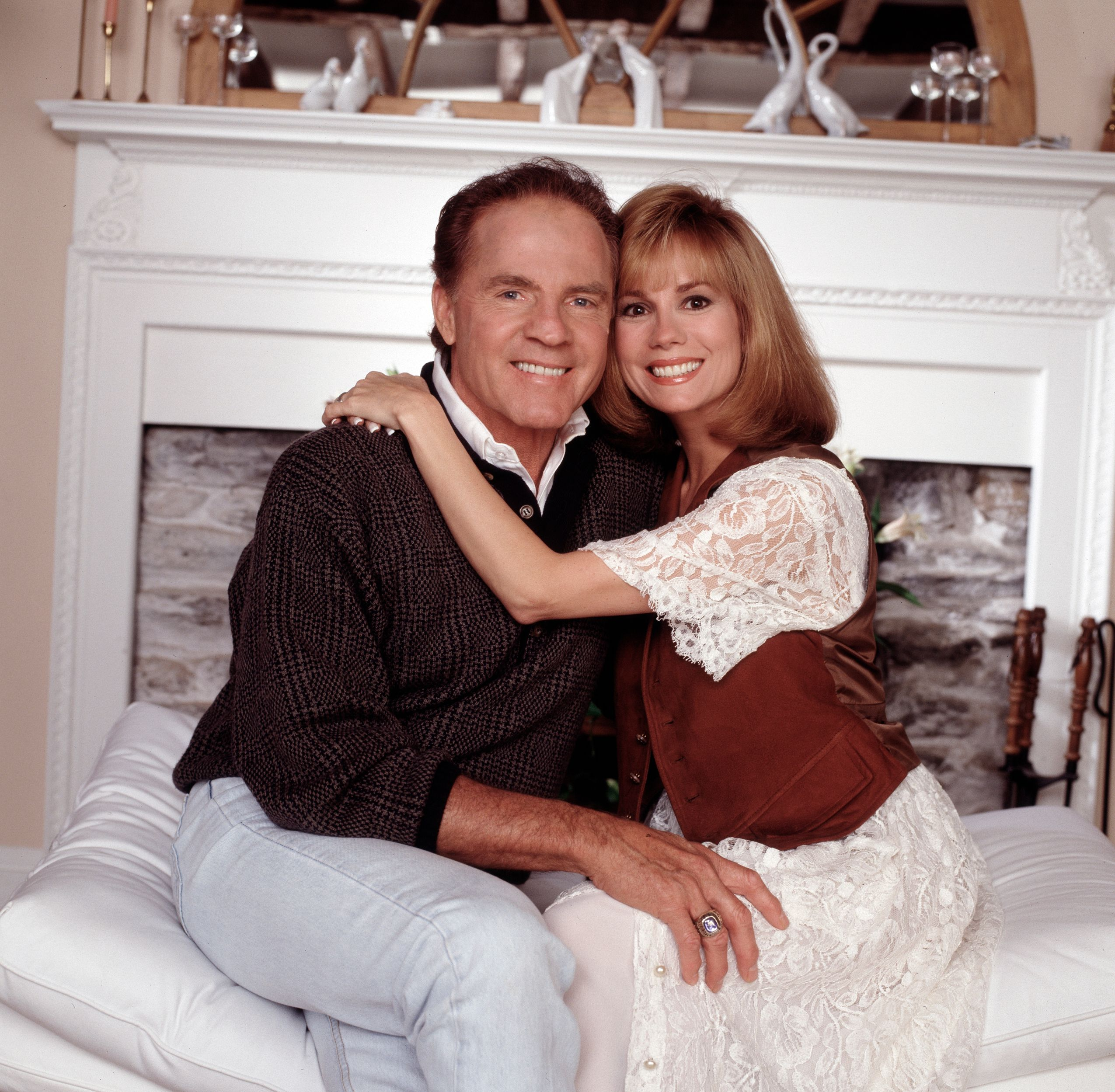 Frank and Kathie Lee Gifford for an Walt Disney Television interview with Barbara Walters, October 5, 1992. | Source: Getty Images