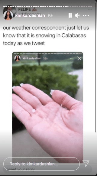 Kim Kardashian shared a hilarious meme a fan made in reaction to her weather mistake. 2021. | Photo: Instagram/kimkardashian