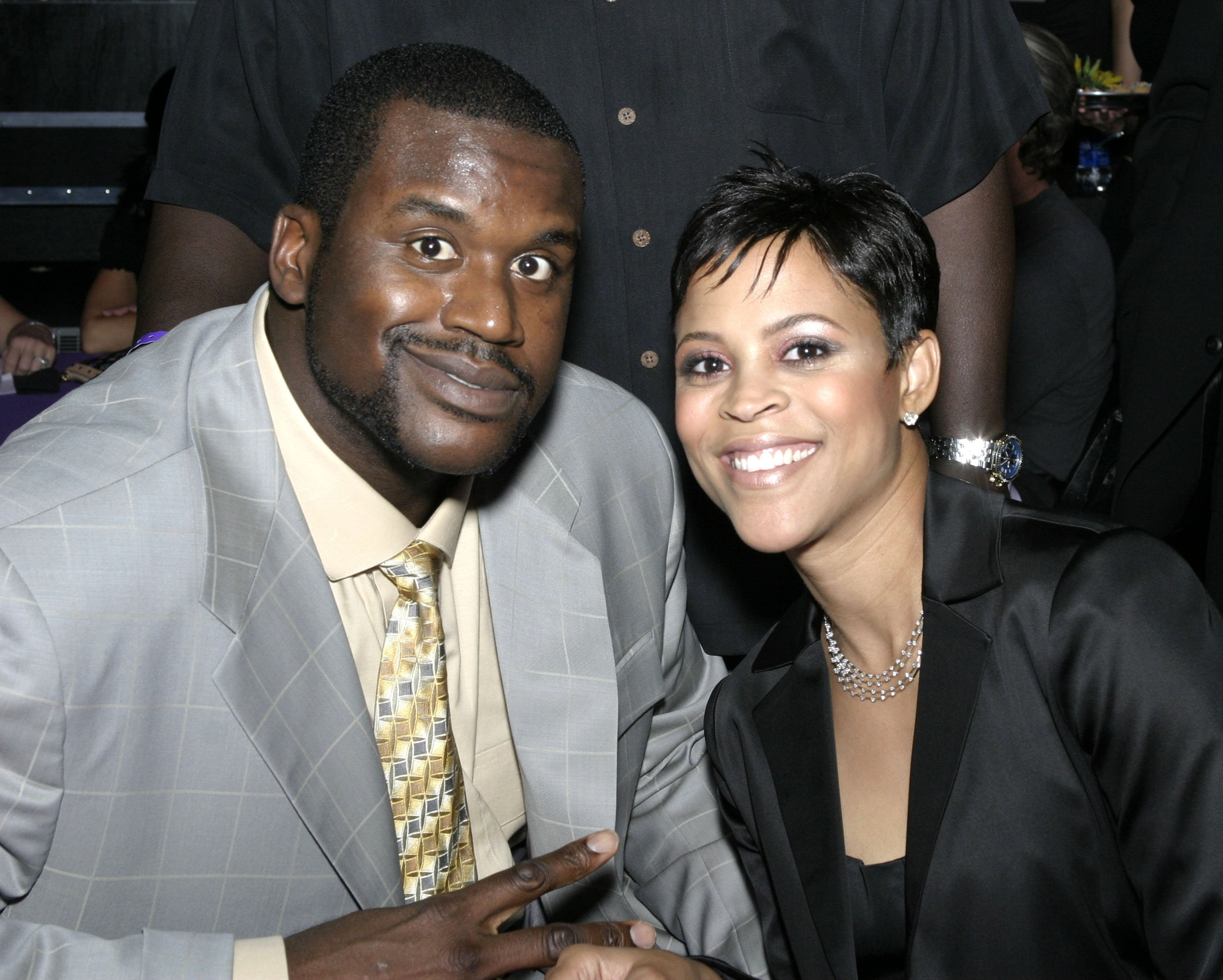 Shaquille O'Neal and Shaunie Nelson at a pre-season party for the Lakers Youth Foundation in Hollywood, California. | Source: Malcolm Ali/Getty Images