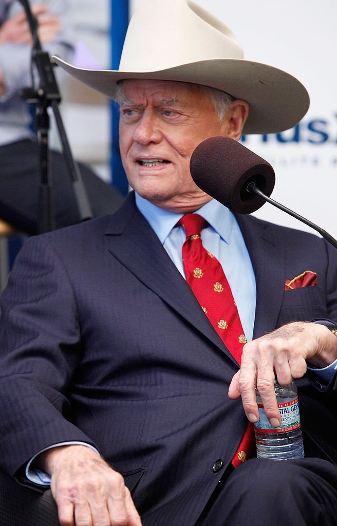"""Actor Larry Hagman of TNT's """"Dallas"""" sits down with the entire cast for an interview on SiriusXM's """"Morning Jolt 