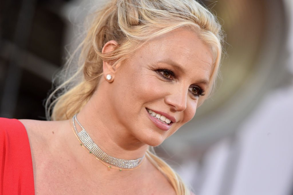 Britney Spears smiles for the camera at the Premiere of Once Upon a Time in Hollywood, held in Hollywood, California on July 22,2019. |Photo by Axelle/Bauer-Griffin/FilmMagic