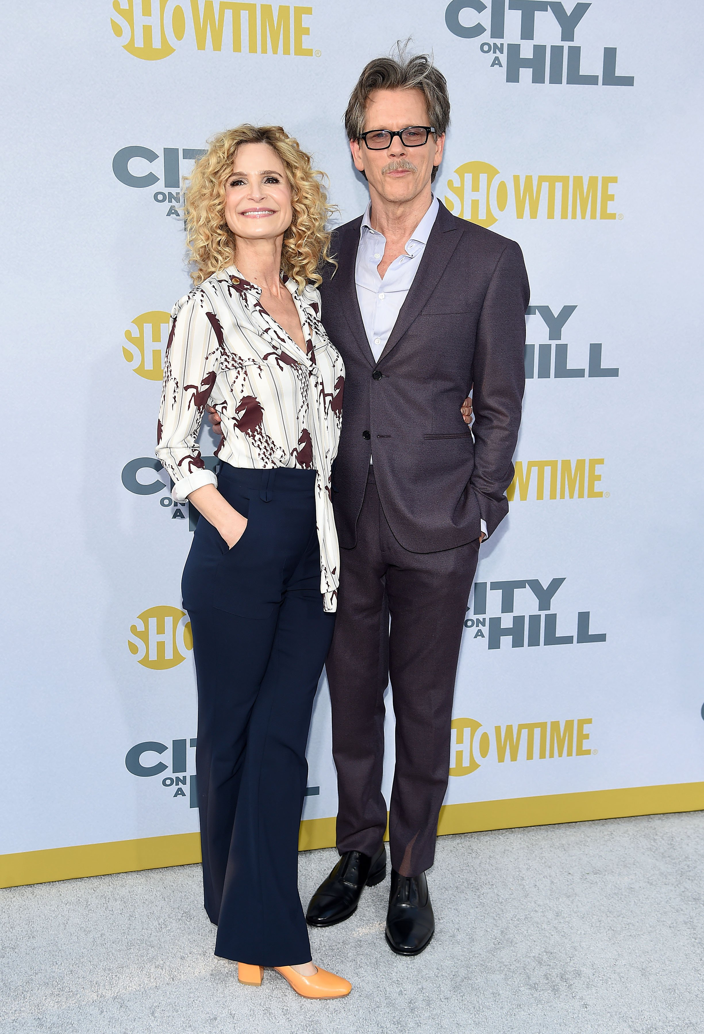 """Kyra Sedgwick and Kevin Bacon attend Showtime's """"City On A Hill"""" in New York City on June 4, 2019 
