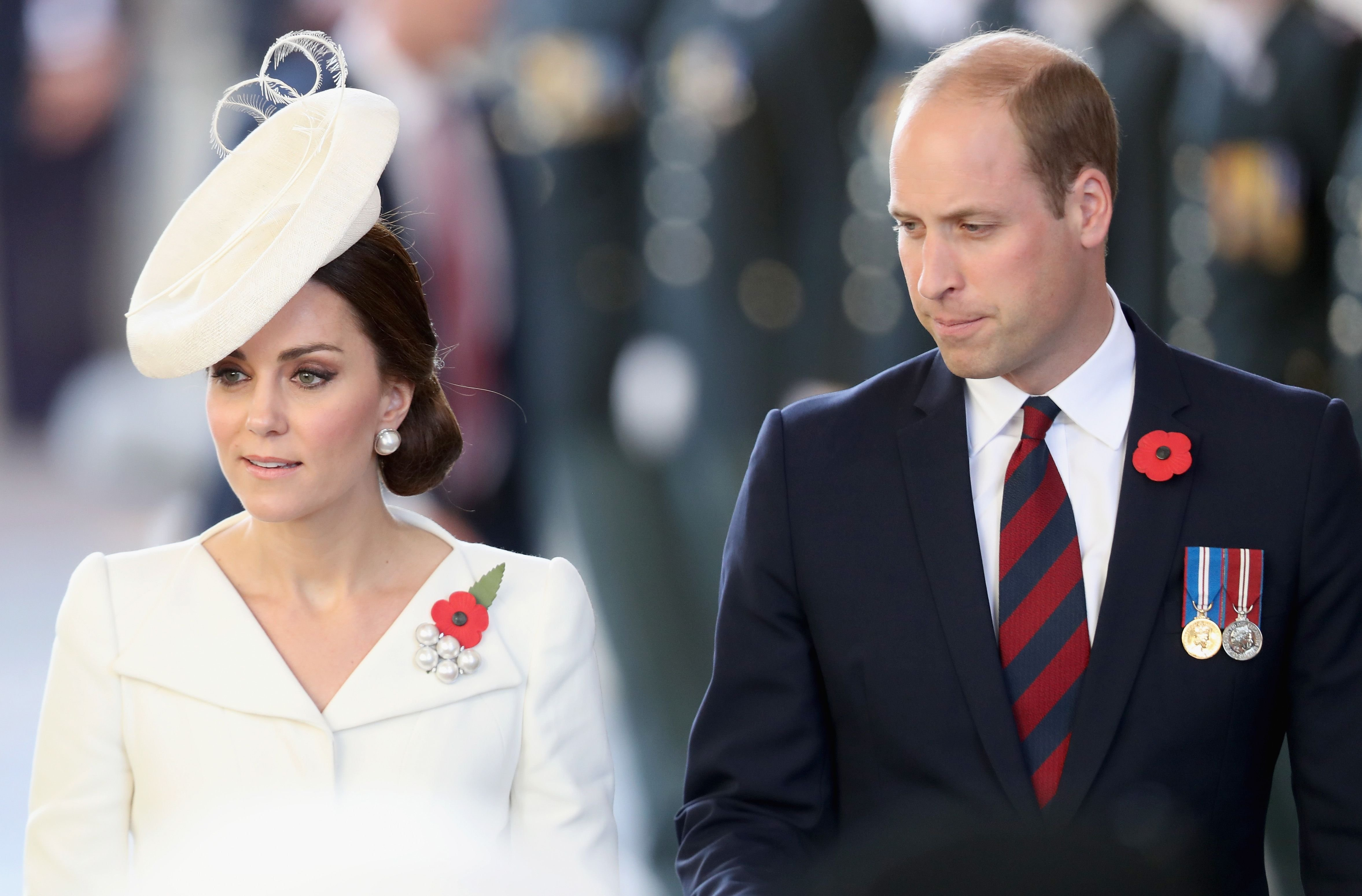 Prince William and Kate Middleton at the Last Post ceremony at the Commonwealth War Graves Commission Ypres (Menin Gate) Memorial on July 30, 2017   Photo: Getty Images