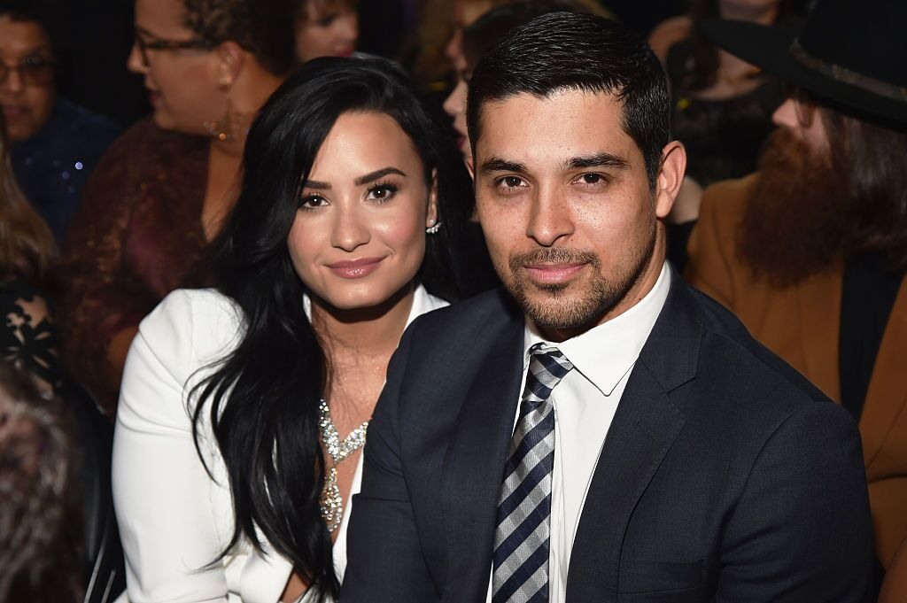 Demi Lovato and Wilmer Valderrama at the 58th GRAMMY Awards in 2016 in Los Angeles | Source: Getty Images