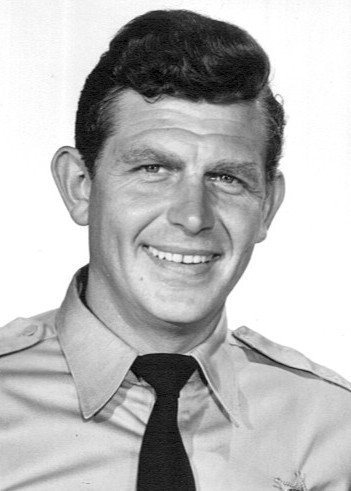 Photo of Andy Griffith as Sheriff Andy Taylor, 1960. | Source: Wikimedia Commons