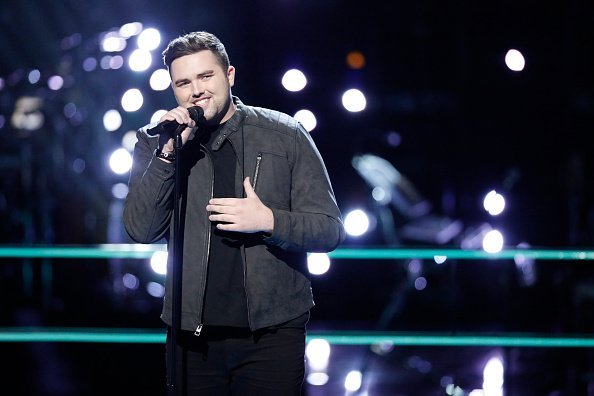 "Jack Casside pictured on ""The Voice"" 