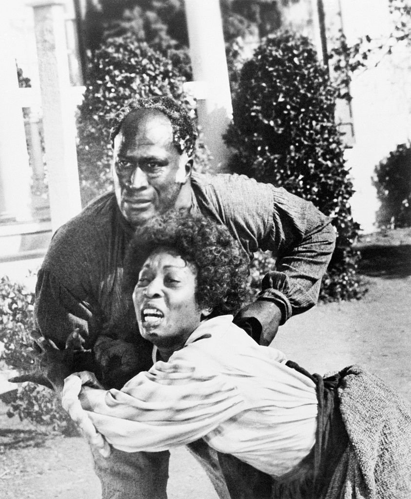 """John Amos and Madge Sinclair in a scene from the TV movie: """"Roots""""   Photo: Getty Images"""
