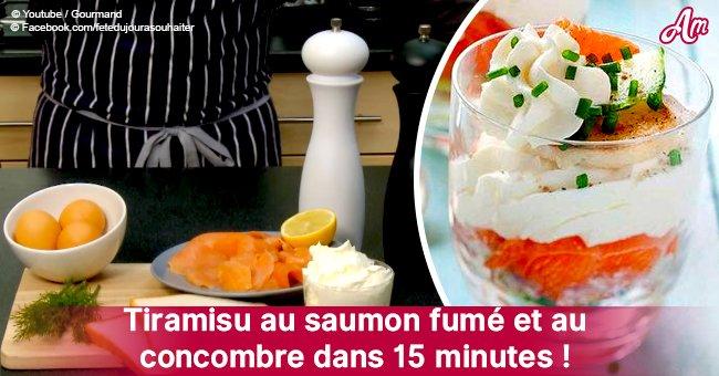 L'incroyable recette du tiramisu au saumon fumé et concombre en 15 minutes