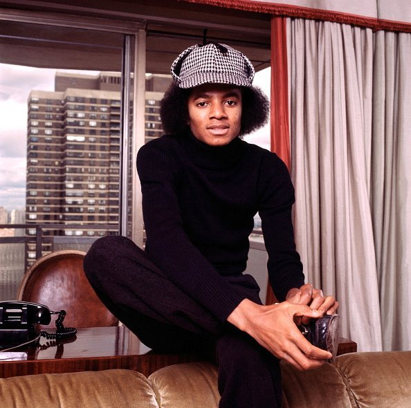 Michael Jackson posing in New York in 1977 Photo: Getty Images
