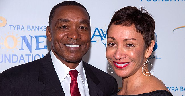 Isiah Thomas and wife Lynn Kendall at the Tyra Banks' Flawsome Ball on May 6, 2014 | Photo: Getty Images