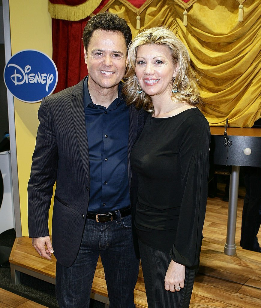 "Donny Osmond and his wife Debbie Osmond attend ""Dance Star Mickey"" at the Mattel Inc. Showroom on February 15, 2010 
