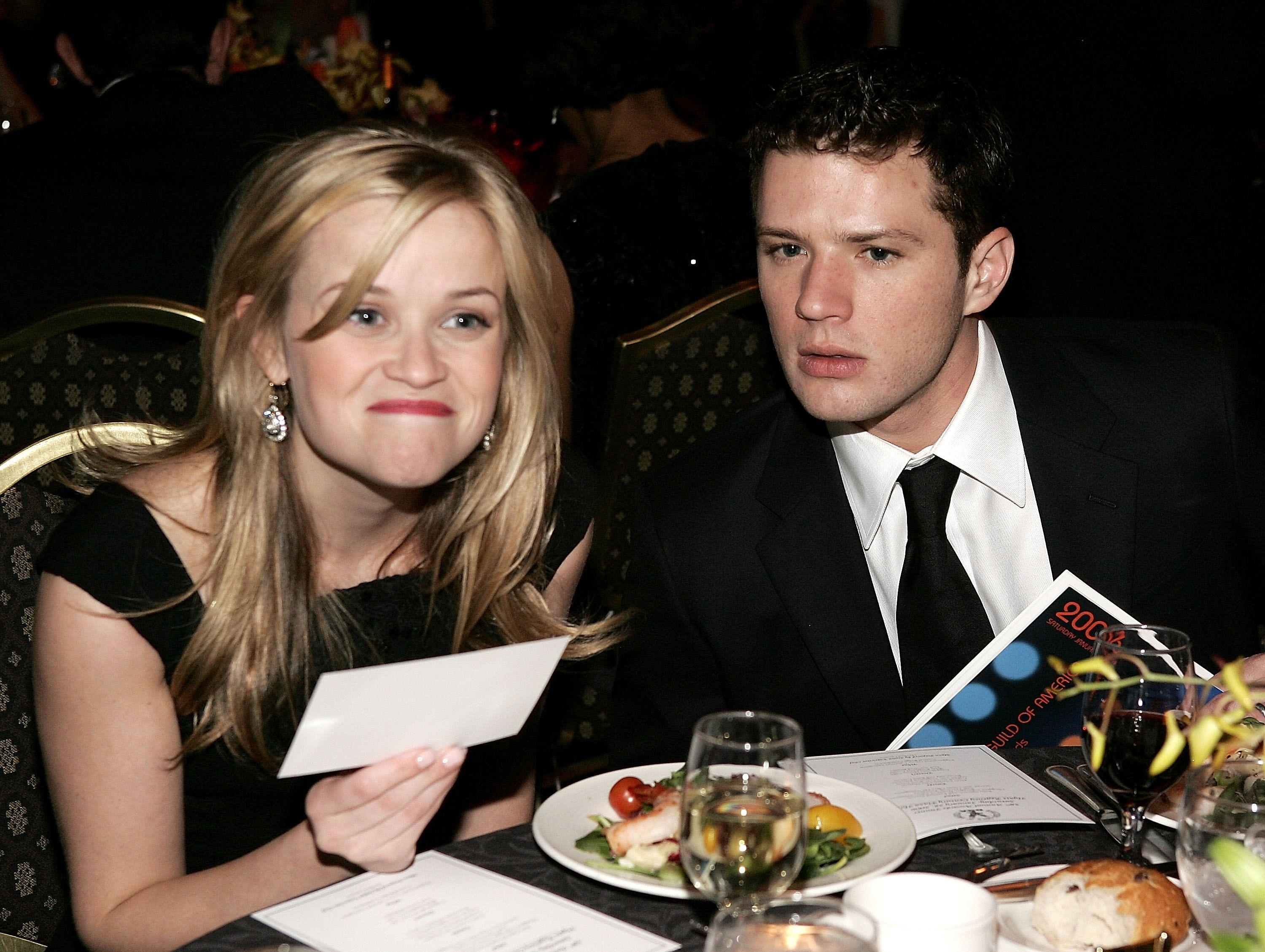Reese Witherspoon and Ryan Phillippe talk during the 58th Annual Directors Guild Of America Awards. | Source: Getty Images
