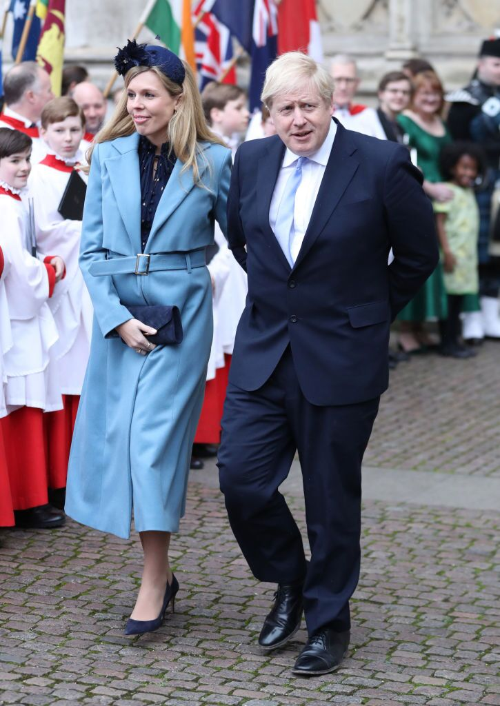 Carrie Symonds and UK Prime Minister Boris Johnson at the Commonwealth Day Service at Westminster Abbey on March 09, 2020, in London, England | Photo: Chris Jackson/Getty Images