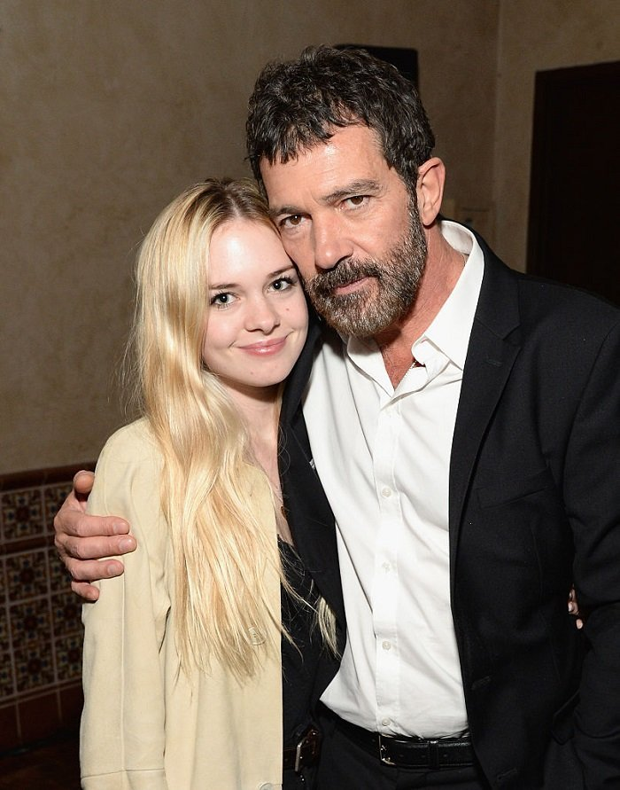 Stella Banderas with her dad, Antonio Banderas l Picture: Getty Images