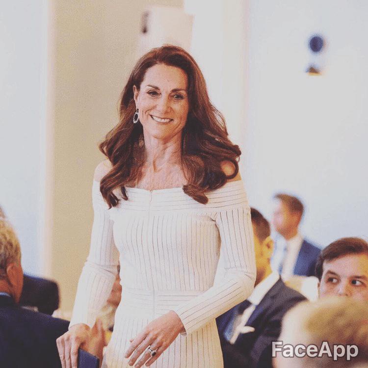 FaceApp Kate Middleton