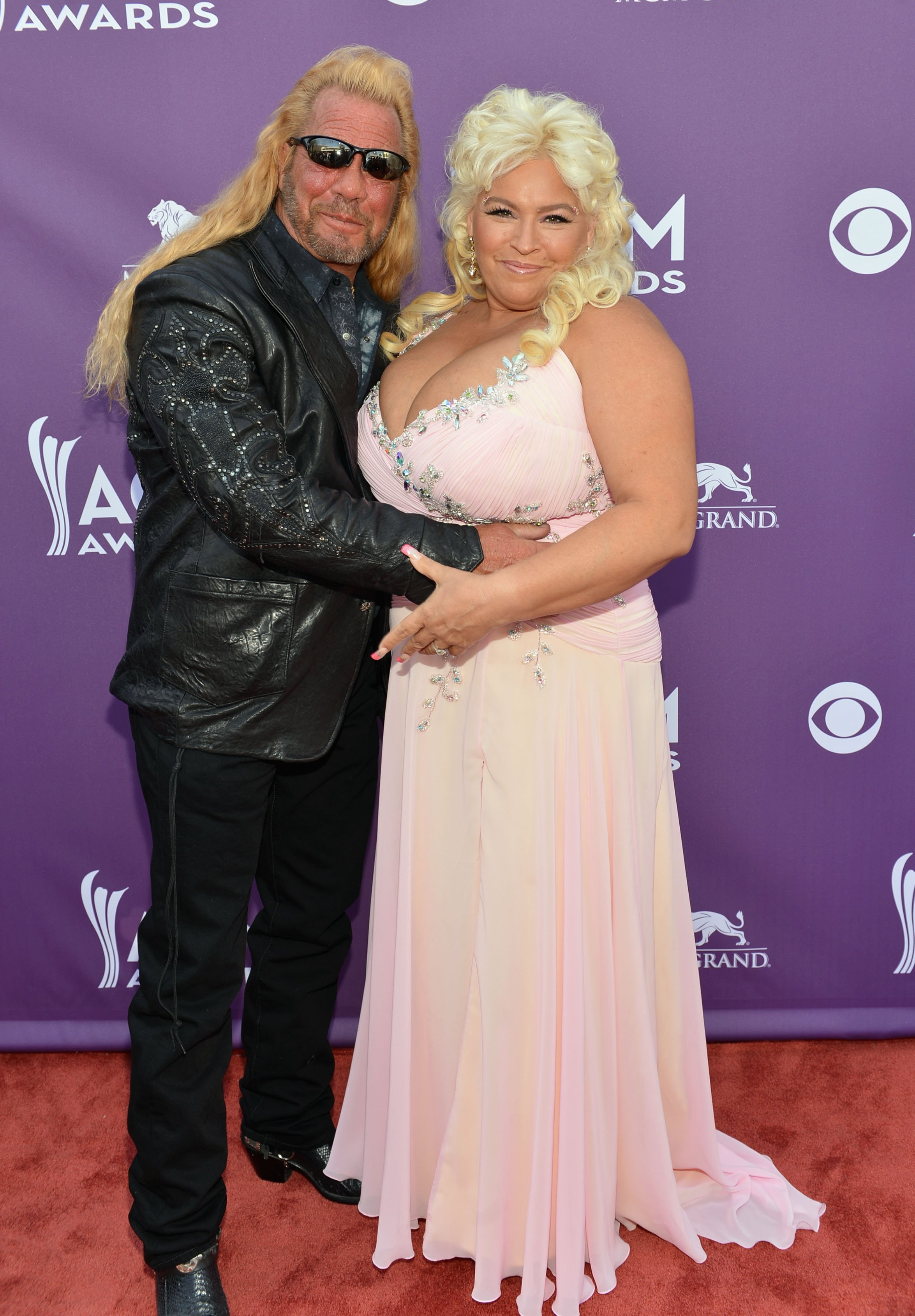 "TV personalities Duane ""Dog"" Chapman and Beth Smith attend the 48th Annual Academy of Country Music Awards at the MGM Grand Garden Arena on April 7, 2013 