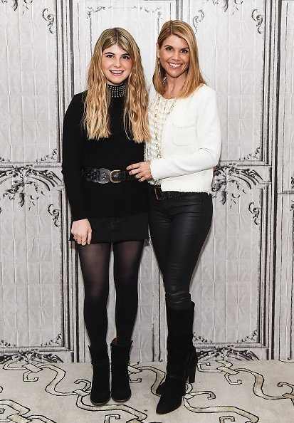 Lori Loughlin and Bella Giannulli at AOL Build to discuss the film 'Every Christmas Has A Story' in New York City. | Photo: Getty Images