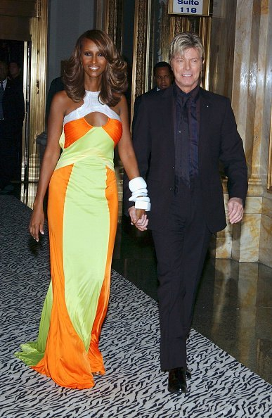 Iman and David Bowie on October 18, 2005 in New York City | Photo: Getty Images