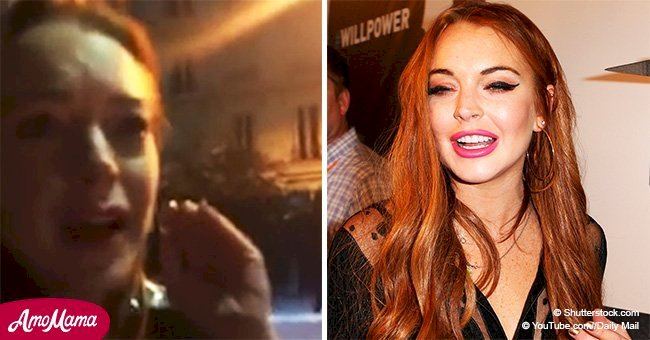 Lindsay Lohan gets hit by a homeless mom on the street for trying to take her son away from her