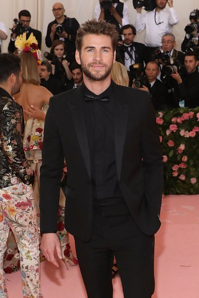 "Liam Hemsworth at the 2019 Met Gala celebrating ""Camp: Notes on Fashion"" on May 6, 2019"