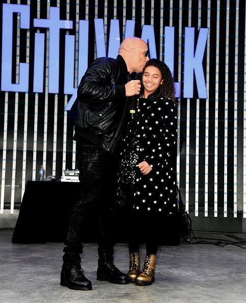 Vin Diesel and Similce Diesel at Universal Cinema AMC at CityWalk Hollywood on December 07, 2019 in Universal City, California. | Photo: Getty Images