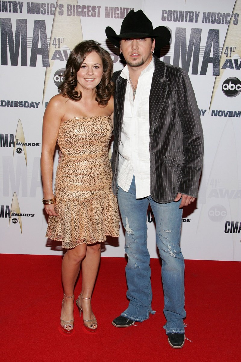 Jason Aldean and wife Jessica Aldean on November 7, 2007 in Nashville, Tennessee | Jason Aldean and wife Jessica Aldean arrive at the 41st Annual CMA Awards at the Sommet Center on November 7, 2007 in Nashville, Tennessee