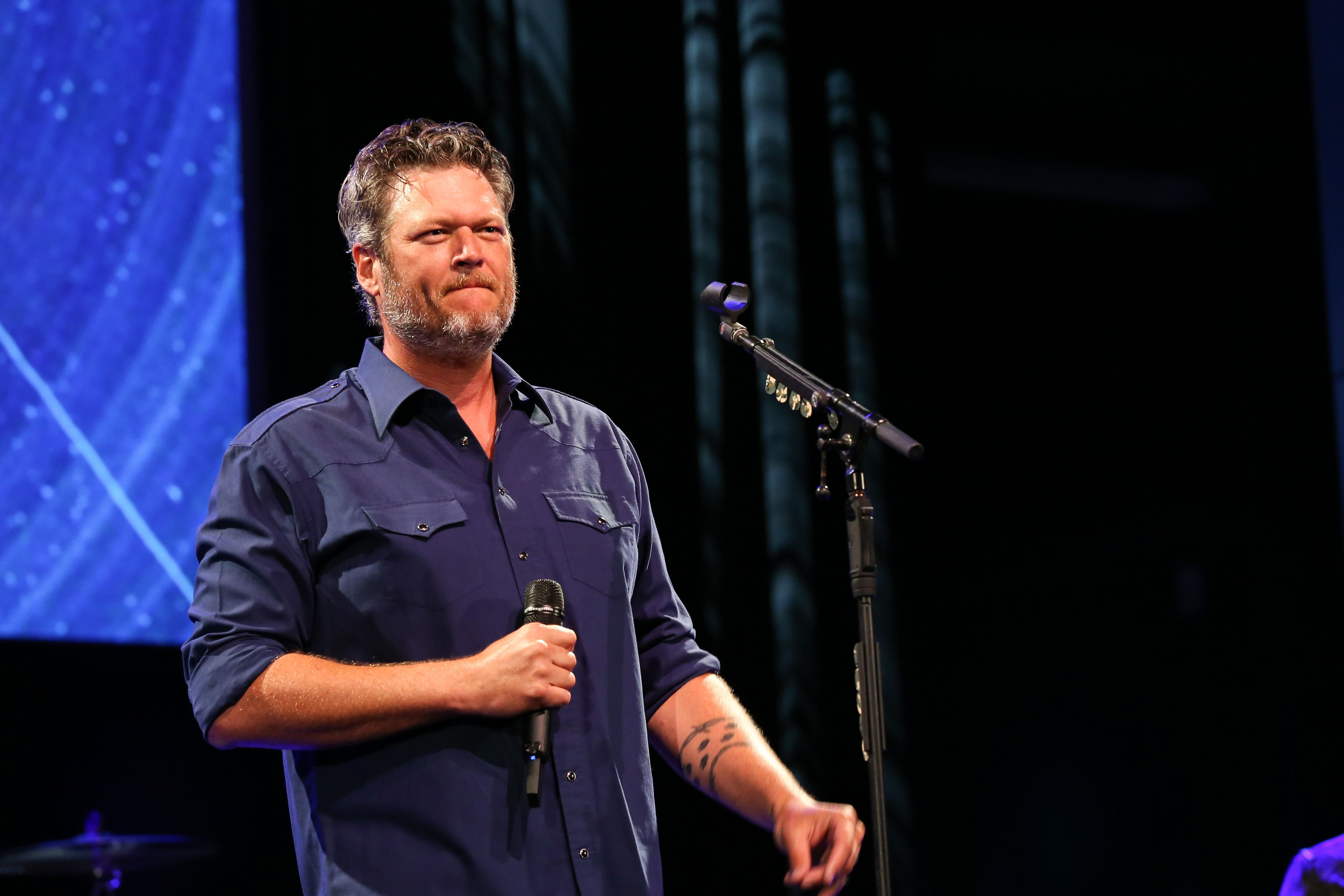 Blake Shelton at the Musicians On Call 20th Anniversary Kickoff Celebration on May 31, 2019, in Nashville, Tennessee | Photo: Terry Wyatt/Getty Images