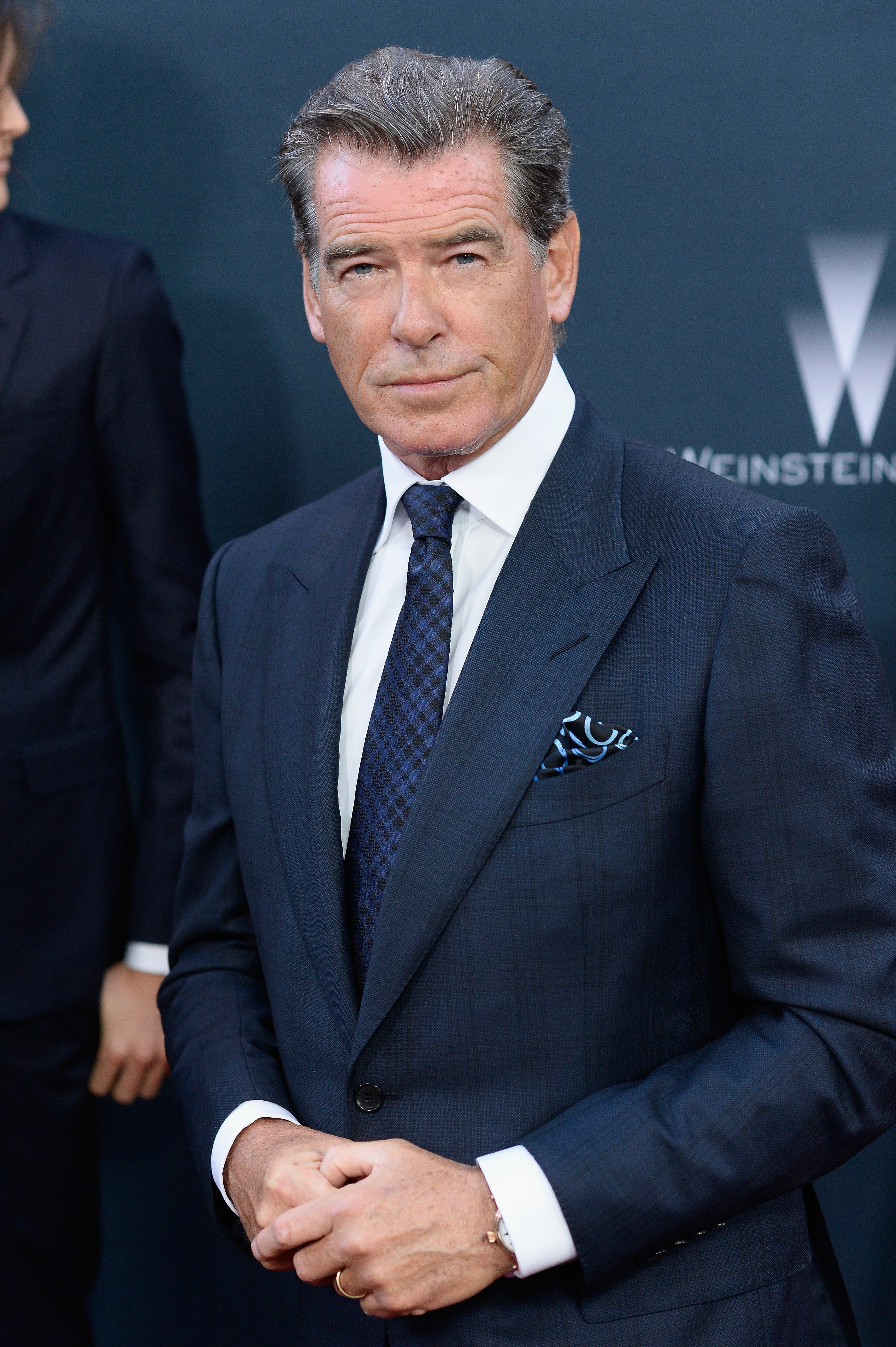 """Pierce Brosnan arrives at The Premiere Of The Weinstein Company's """"No Escape"""" on August 17, 2015, in Los Angeles, California. 