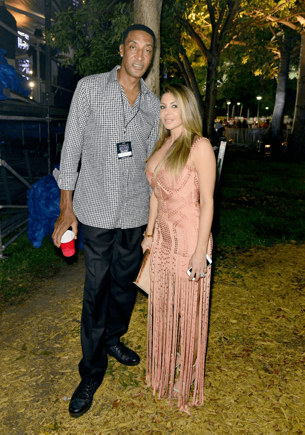 Scottie and Larsa Pippen at the Pitbulls New Years Eve Revolution in Miami in 2015 | Source: Getty Images