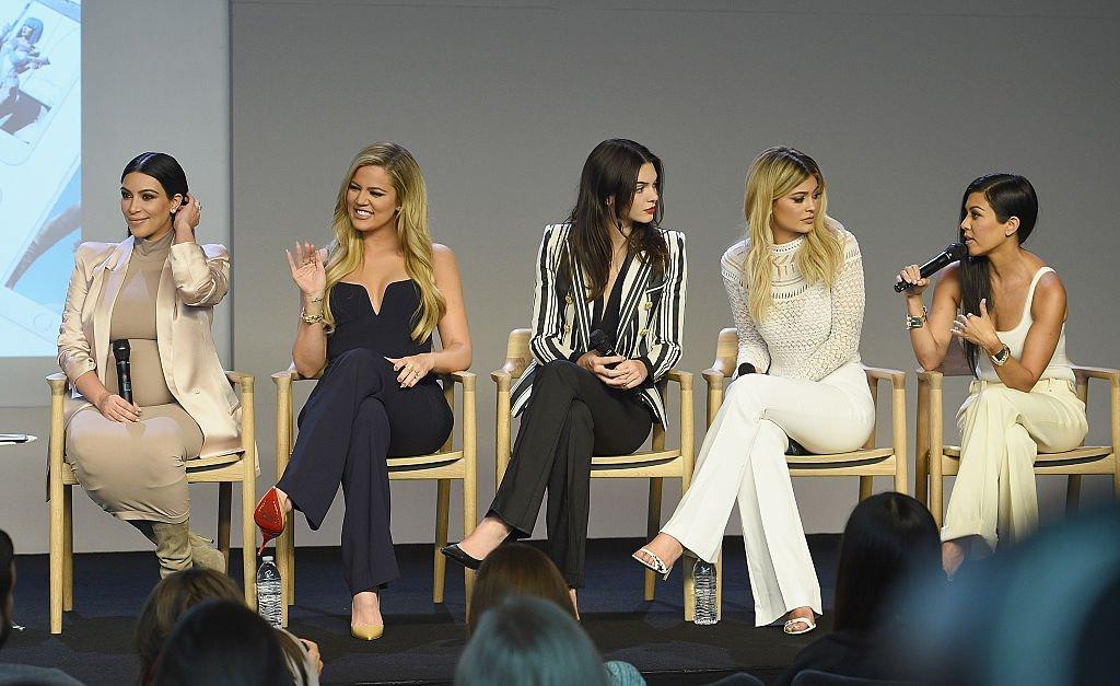 Kim Kardashian, Khloe Kardashian, Kendall Jenner, Kylie Jenner and Kourtney Kardashianat attends the Apple Store Soho | Getty Images