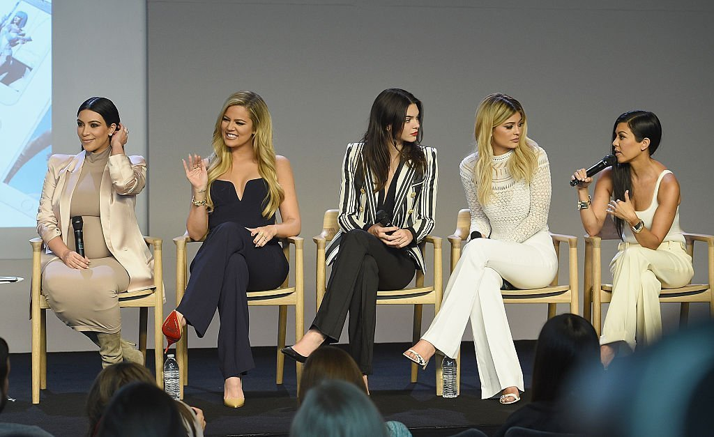 Kim Kardashian, Khloe Kardashian, Kendall Jenner, Kylie Jenner and Kourtney Kardashianat attends the Apple Store Soho | Getty Images