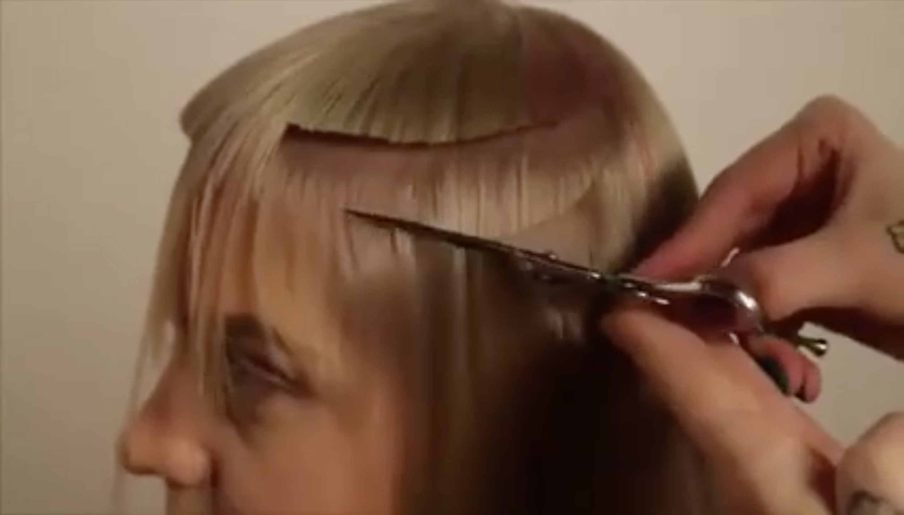 Girl getting a quirky haircut from Barbershapp. | Source: Facebook/Barbershapp