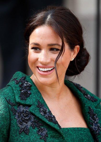 Meghan, assiste à un événement jeunesse du Jour du Commonwealth à la Maison du Canada le 11 mars 2019 à Londres.   Photo : Getyy Images