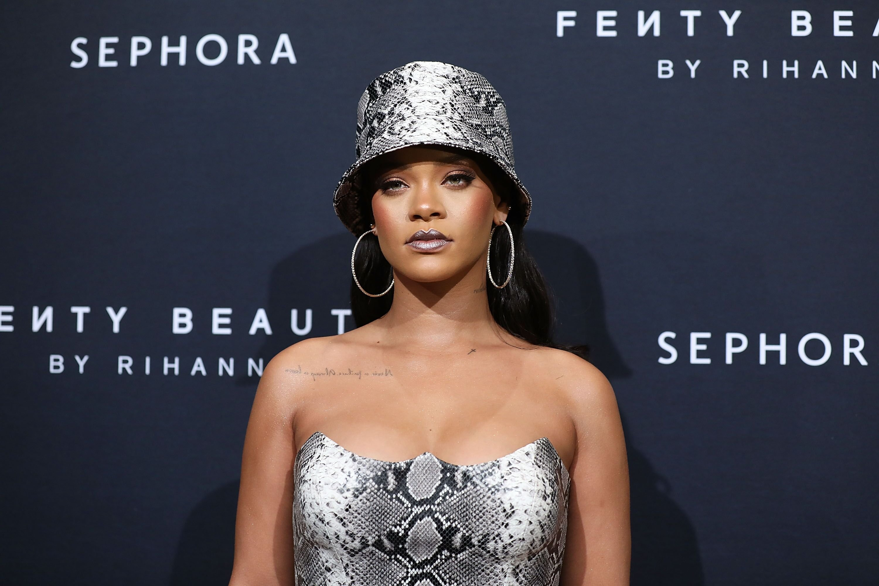 Rihanna at the Fenty Beauty by Rihanna Anniversary Event in Sydney, Australia on October 3, 2018   Photo: Getty Images