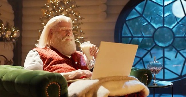 See John Travolta's Grey Beard as Santa Claus in a Commercial with Samuel L Jackson