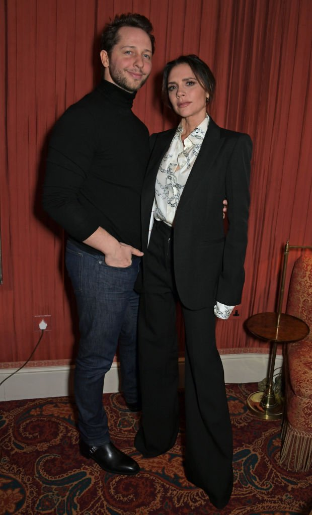 Derek Blasberg and Victoria Beckham at the Victoria Beckham x YouTube Fashion & Beauty after party on February 17, 2019 in London, England   Photo: Getty Images