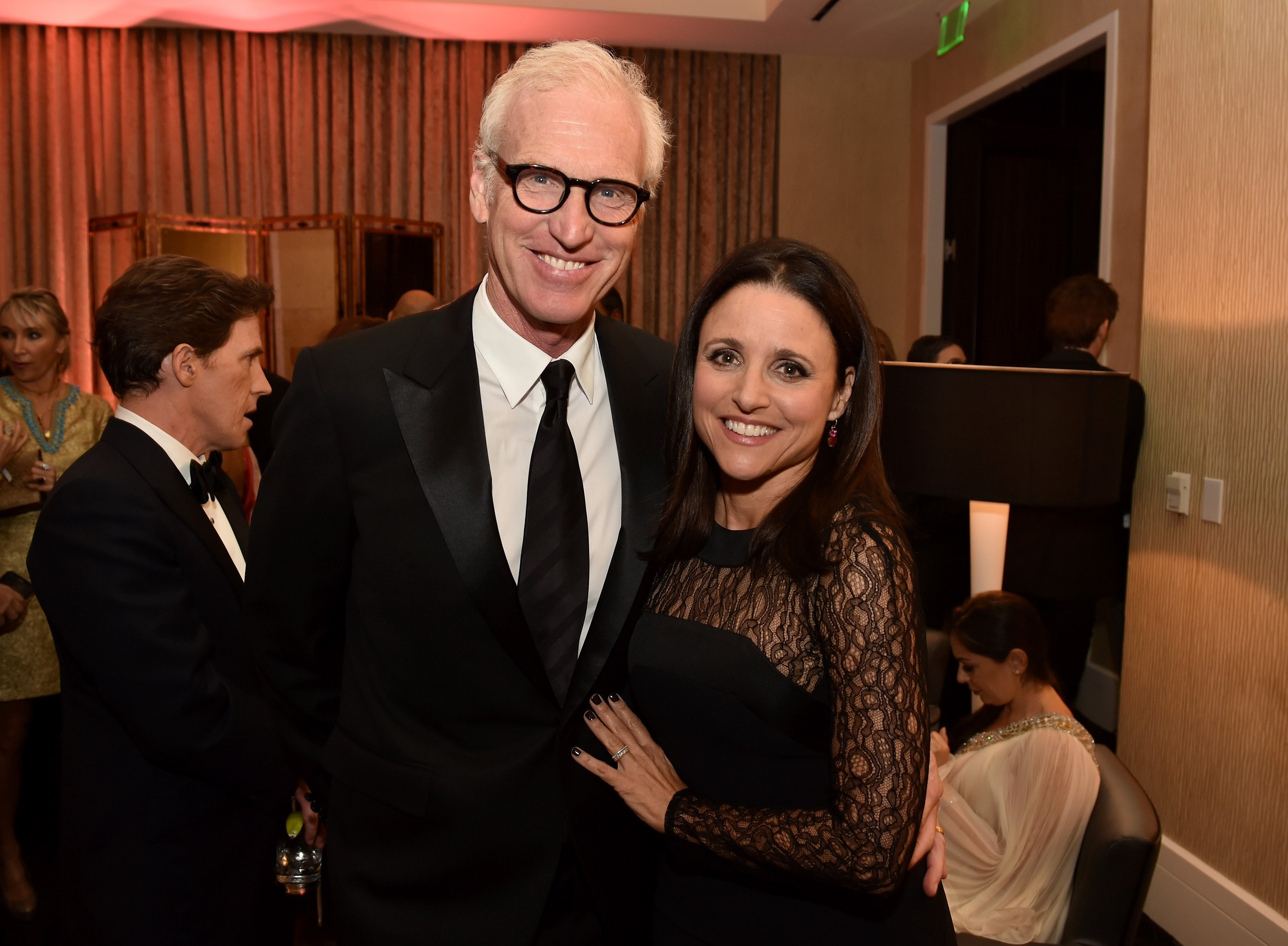 Brad Hall and Julia Louis-Dreyfus attend the BAFTA Los Angeles Jaguar Britannia Awards on October 30, 2014 in Beverly Hills, California | Photo: Getty Images