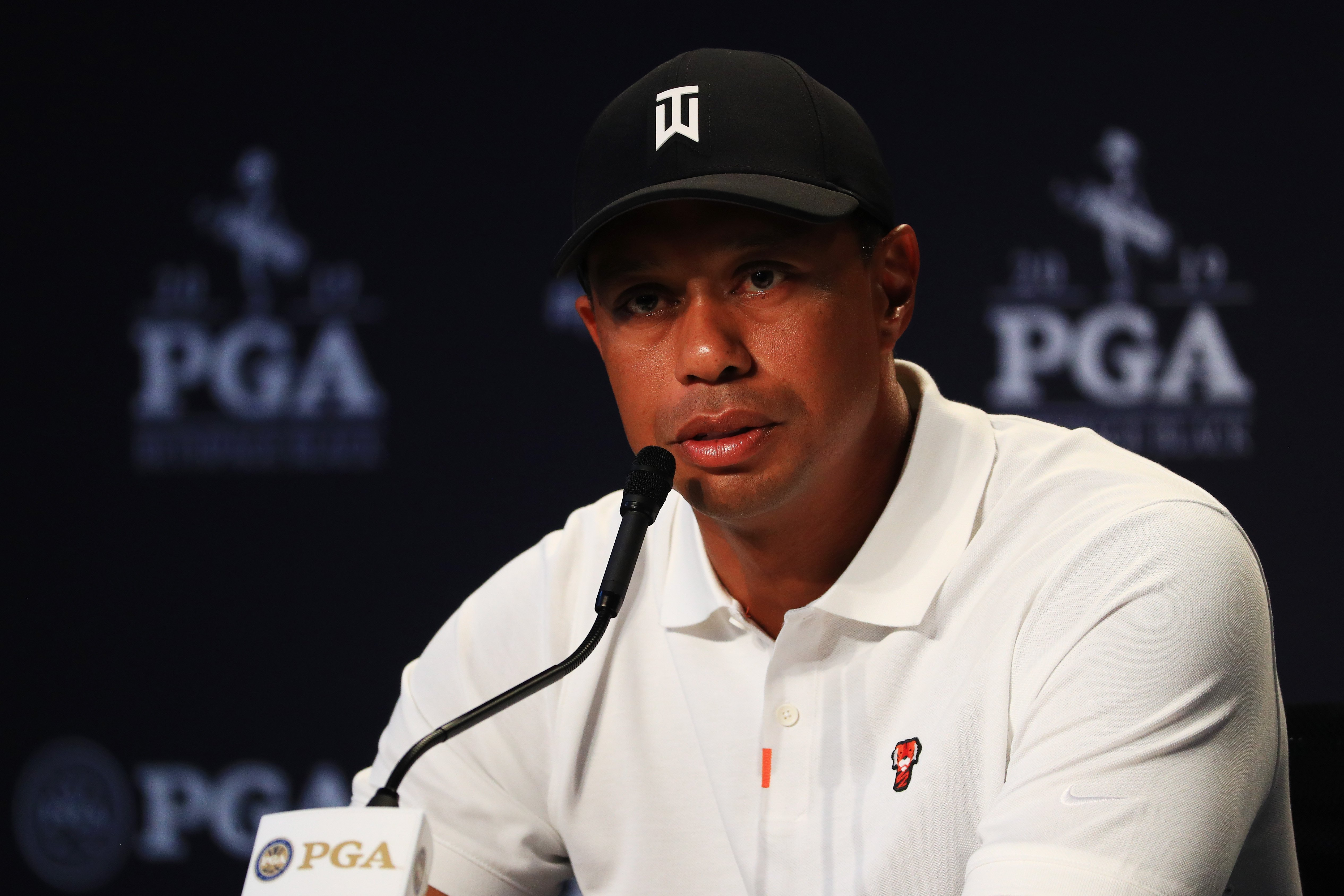 Tiger Woods during a press conference prior to the 2019 PGA Championship at the Bethpage Black course on May 14, 2019. | Photo: GettyImages