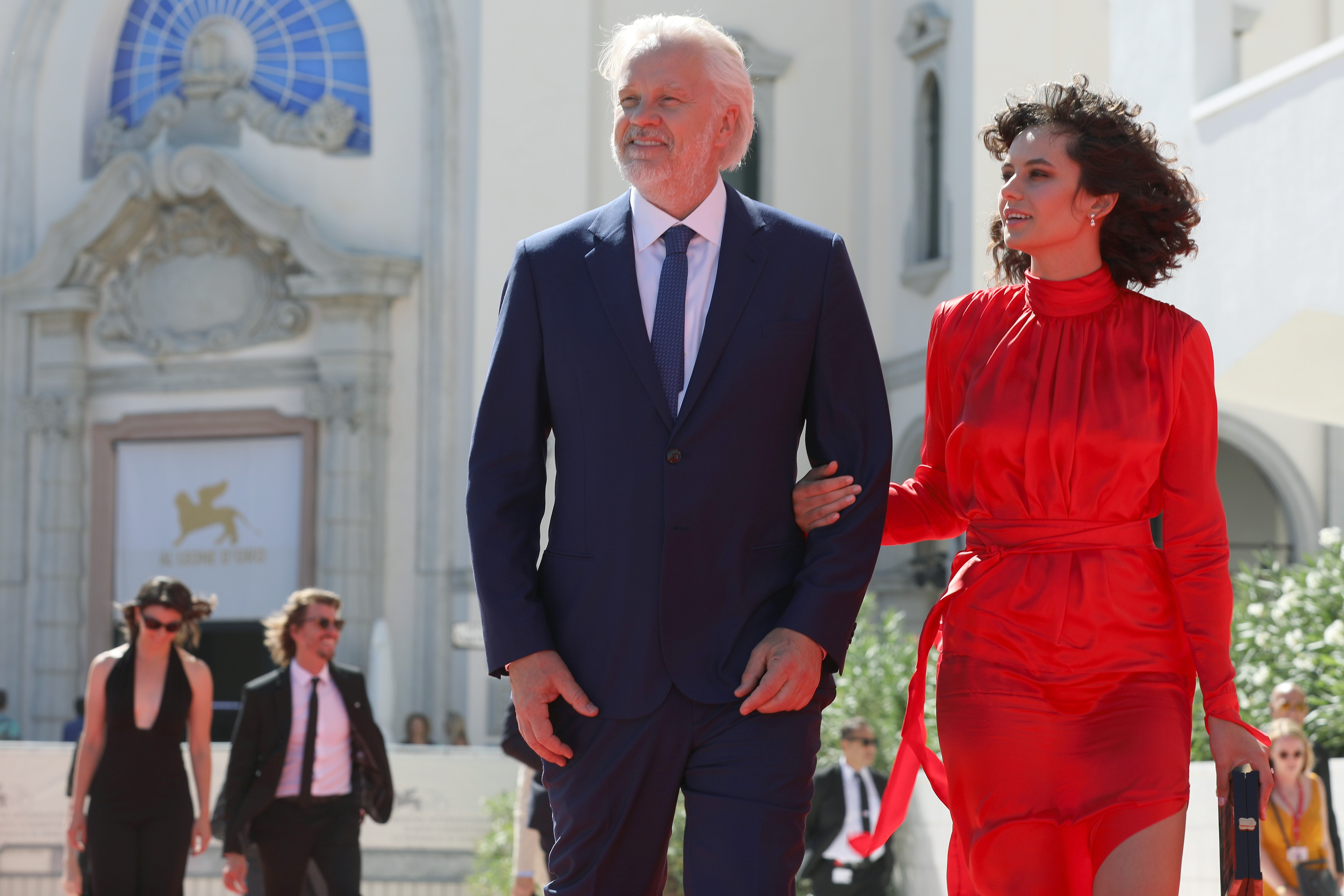 Tim Robbins and Gratiela Brancusi at the Venice Film Festival, September, 2019.   Photo: Getty Images.