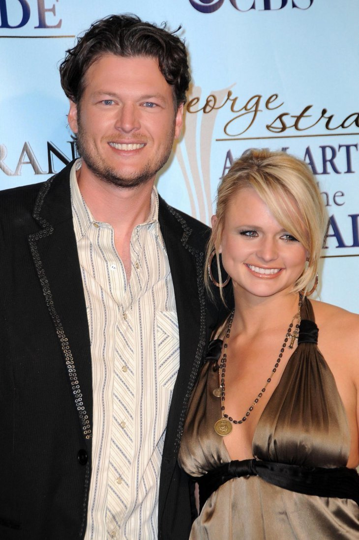 Blake Shelton and Miranda Lambert in the press room at the Academy Of Country Music Awards' Artist Of The Decade. MGM Grand, Las Vegas, 2009 | Photo: Shutterstock