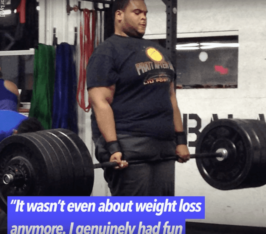 Romar Lyle worked hard at the gym to achieve his desired weight. | Screenshot: YouTube/goodmorningamerica