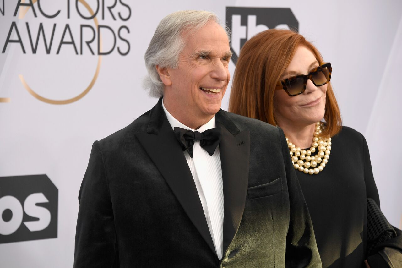 Henry Winkler and Stacey Weitzman attend the 25th Actors Guild Awards. | Source: Getty Images