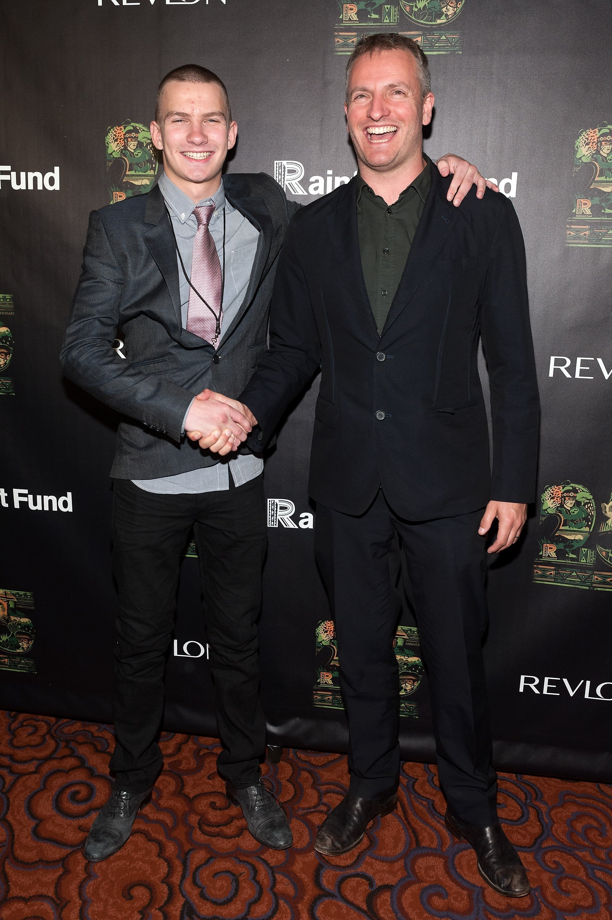Giacomo Sumner (L) and Joe Sumner attend the after party for the 25th Anniversary concert for the Rainforest Fund on April 17, 2014. | Source: Getty Images
