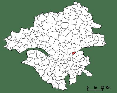 Carte de localisation de la commune de Thouaré-sur-Loire dans le département français de Loire-Atlantique. | Wikimedia Commons