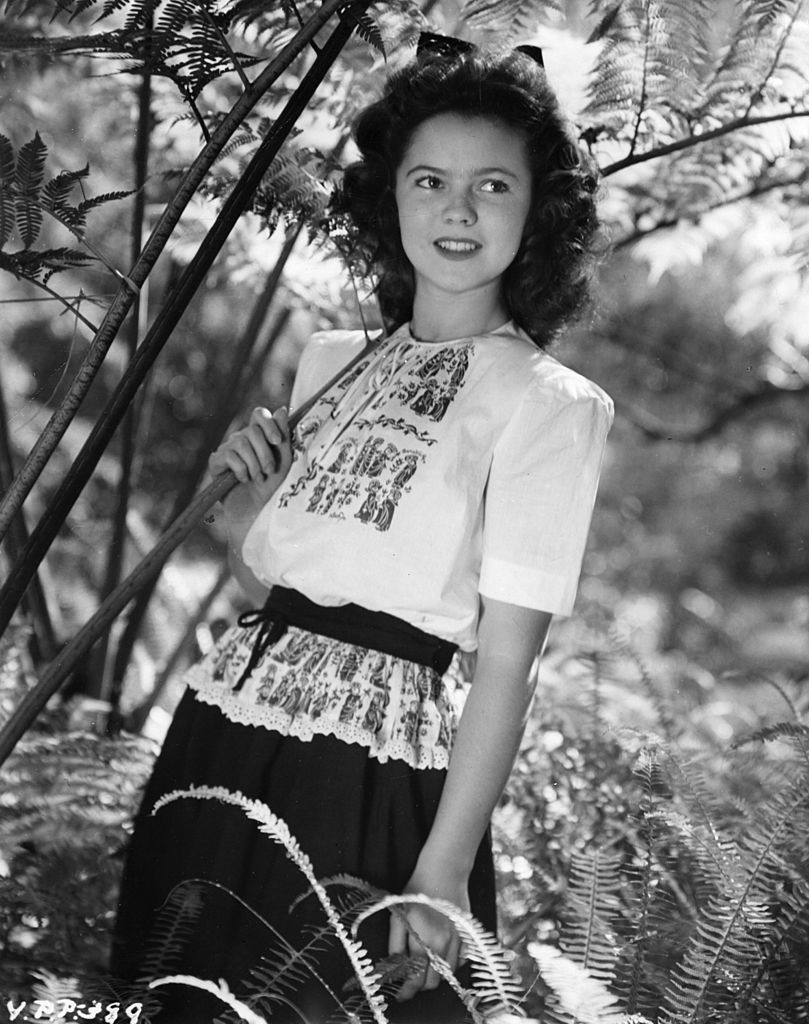 1944 picture of child star and actress, Shirley Temple | Getty Images