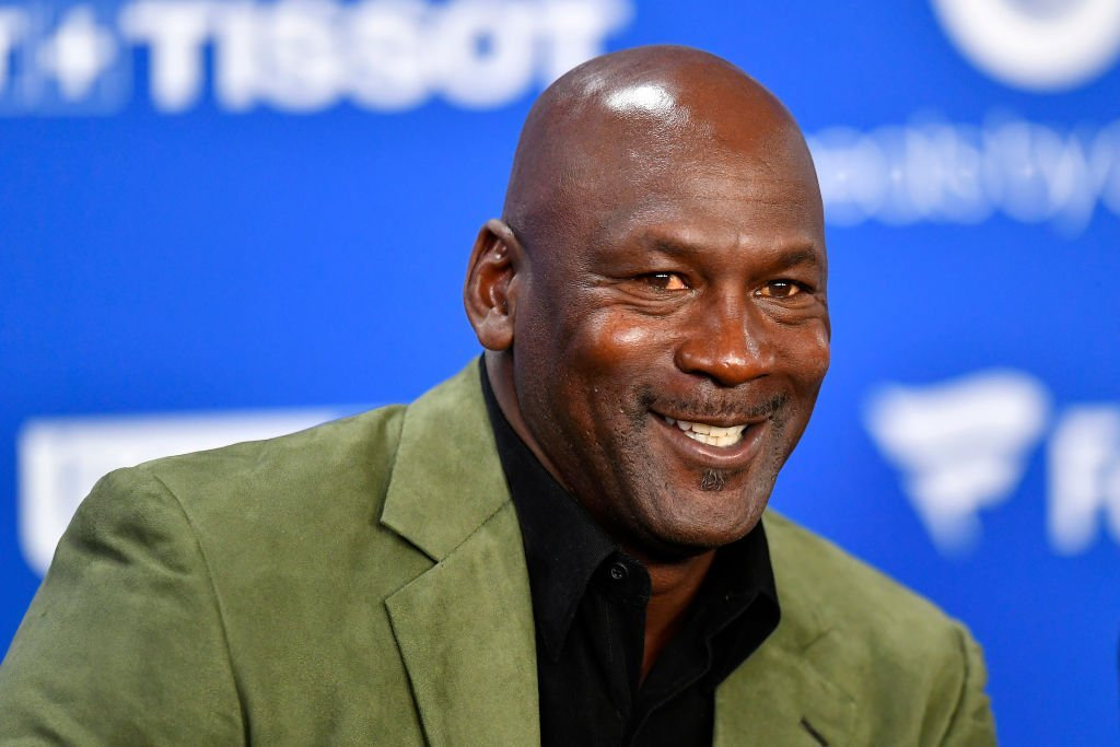 Michael Jordan attends a press conference before the NBA Paris Game match between Charlotte Hornets and Milwaukee Bucks on January 24, 2020. | Photo: Getty Images