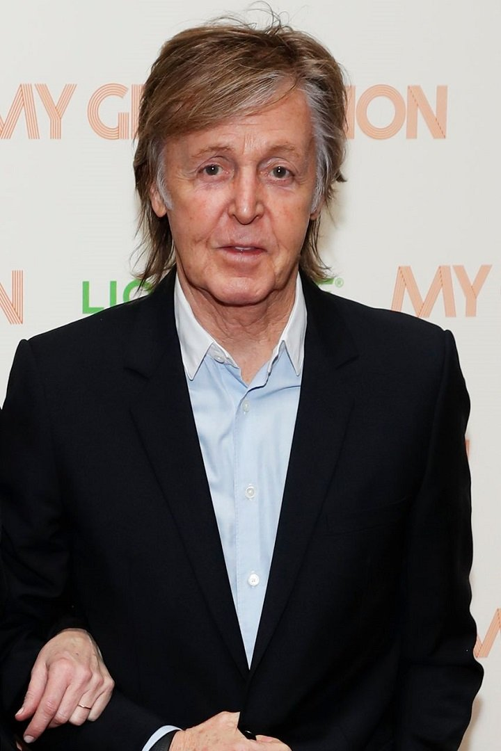 """Paul McCartney attending a special screening of """"My Generation"""" at the BFI Southbank in London, England in March 2018. 