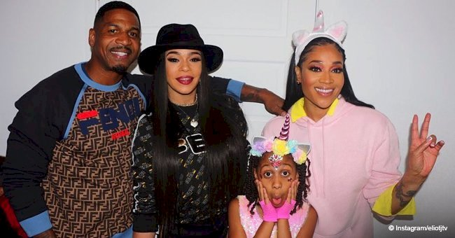 Stevie J & ex Mimi Faust celebrate their daughter's 9th birthday with his new wife Faith Evans