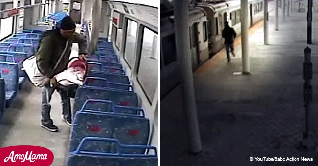 Father left newborn inside a train to go smoke, but the train closed its doors and started moving