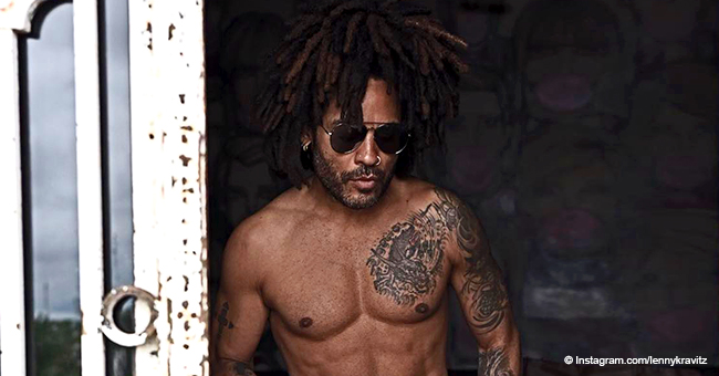 Lenny Kravitz Drops Jaws, Flaunting His Rock-Hard Abs & Tattoos in Shirtless Photo